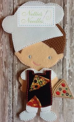 Pizza fresca Hot: Pizza Maker Outfit per di NettiesNeedlesToo