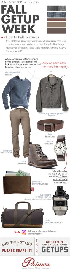 Fall Getup Week: Hearty Fall Textures