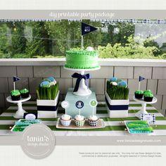 Golf Partee Printable Birthday Party Package by taniasdesignstudio, $35.00