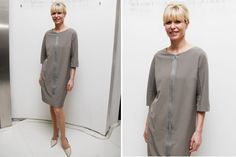 Ohlaleando: mirá lo que se puso Lucía Celasco  La dueña de la elegancia. Karina Rabolini con un vestido muy simple en color gris y stilettos nude. Foto: Gentileza Prensa