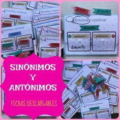 TRABAJAMOS SINÓNIMOS Y ANTÓNIMOS – Infosal Spanish Teaching Resources, Sistema Solar, Hands On Activities, Spanish Language, Second Grade, Preschool, Teacher, Student, Education