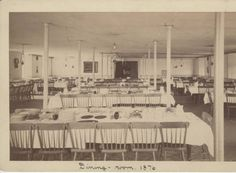 Mount Holyoke Female Seminary Dining Hall, 1876 :: Archives & Special Collections Digital Images