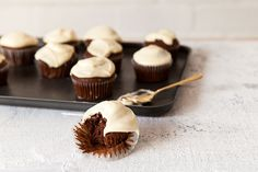 Can't choose between white chocolate or milk chocolate cupcakes? Here's a Top Deck cupcake recipe you can proudly take your hat off to. Best of both worlds.