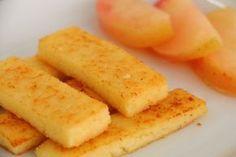 BLW-Rezept für Grießschnitten auf babyspeck.at, Fingerfood für Baby led weaning ab 6 Monate, Süßes Babyrezept ohne Zucker