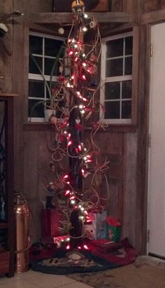 Our Deer Antler Christmas Tree