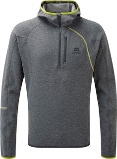 Mountain Equipment Men's Integrity Hooded Zip Neck £90 or £70 from Gaynor Sports. See iPad photo. Hood not needed and makes it less smart, also would have gone for blue. Relaxed hood doesn't come fully up, stretch-knit fabric supposed to wick 320g