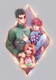 loving the dad sweater, kira Jojo's Bizarre Adventure, Jojo's Adventure, Johnny Joestar, Yoshikage Kira, Manhwa, Jojo Parts, Familia Anime, Jotaro Kujo, Gifts For An Artist