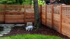 We just built this interesting cedar privacy fence for a customer in Grand Haven, Michigan. It turned out very well.