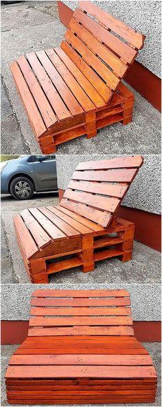 pallet garden seating idea