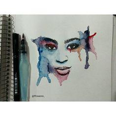 #watercolor #pointlism #stippling #art #drawing #draw #illustration #painting #portrait #aquarela #arte #desenho #ilustração #watercolortattoo #tattoo #photo #photography #color #normanikordei #fifthharmony #watercolorportrait