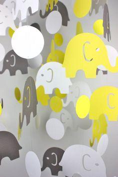 Elephant Baby Mobile -#nursery #jungletheme #kidsrooms #mobile #elephant