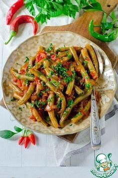 Стручковая фасоль с томатами по Ливански