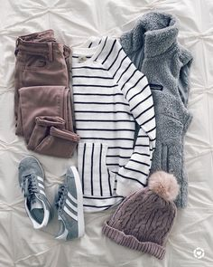 SWEATSHIRT | VEST | SNEAKERS (similar) | JEANS (budget-friendly here )