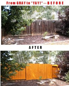 Top 10 Tips for Wood Fences: How to Make Your Gray Fence Look Great for Ye. Top 10 Tips for W Diy Fence, Backyard Fences, Backyard Projects, Outdoor Projects, Backyard Landscaping, Backyard Ideas, Wooden Fence, Fence Ideas, Backyard Retreat