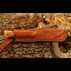 """""""I have a new model Bushcraft knife up for sale today.  This one had an antiqued finish O1 tool steel, stabilized quilted maple with black and brass…"""""""