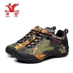 52.43$  Buy now - http://ali6ff.worldwells.pw/go.php?t=32647472615 - 2016 zapatillas hombres tourism leisure Camouflage outdoor sports climbing cross country men deodorant waterproof hiking shoes 52.43$