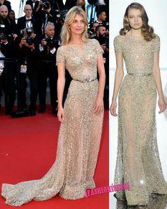 Mélanie Laurent de Zuhair Murad Alta Costura Primavera/Verano 2015 en el Festival de Cannes 2015.