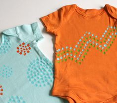Baby shower activity - painting onesies