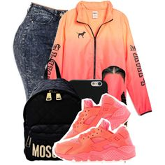 A fashion look from May 2016 featuring NIKE sneakers, Moschino backpacks and Givenchy tech accessories. Browse and shop related looks. Swag Outfits For Girls, Cute Swag Outfits, Teen Fashion Outfits, Teenager Outfits, Dope Outfits, Trendy Outfits, Fall Outfits, Girl Fashion, Fashion Looks