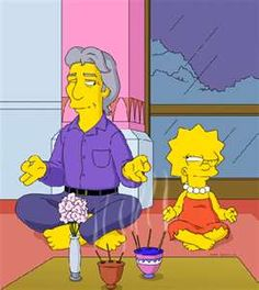 """Richard Gere is an American Actor. He met Lisa Simpson in the Springfield Buddhist Temple. Appearances Episode – """"She of Little Faith"""", Episode – """"Funeral for a Fiend"""" (cameo) Richard Gere, Lisa Simpson, The Simpsons, Simpsons Quotes, Pink Floyd, Memes, Portrait, Illustration, Spirituality"""