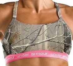 Love the camo under armour sports bra!