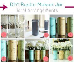 DIY: Rustic Mason Jar Floral Arrangements