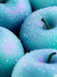 • green blue apple teal aqua aquamarine turquoise fruit apples turqu shupergirl •