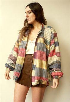 7880659da97 vintage oversize woven bomber jacket from Ecuador. Barely worn. Ecuador