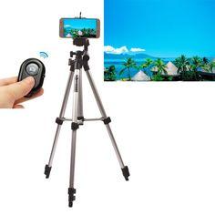 Aluminium Camera Stand Tripod Holder+Remote Control For Samsung S7 S7 Edge S7 Plus
