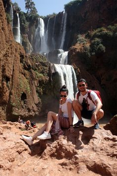 When our highly anticipated desert tour was postponed by a day, we were offered a complimentary day trip to visit the Ouzoud Falls. Desert Tour, Getting Wet, Day Trip, Morocco, Travelling, Waterfall, Tours, Waterfalls, Rain