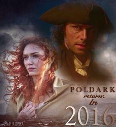 Poldark BBC Aidan Turner and Eleanor Tomlinson Ross and Demelza