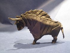 Amazing Japanese art of paper folding Origami Art works.The goal of this art is to create a representation of an object using geometric . Origami And Quilling, Origami And Kirigami, Origami Folding, Paper Crafts Origami, Oragami, Origami Art, Paper Folding, Origami Shapes, Animal Robot