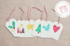 gift tags from Oana Befort (the nativity is my fave)