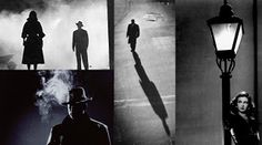Film Noir was conventionally filmed in black and white, the use of shadows helping to promote the sinister or mysterious theme of its genre. Description from aylesfordmediaproject.blogspot.com. I searched for this on bing.com/images