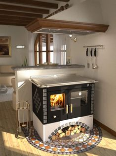 Wood Stove Cooking, Kitchen Stove, Old Kitchen, Kitchen Witch, Stove Fireplace, Lodge Style, Wood Burner, Dream House Exterior, Tiny House Living