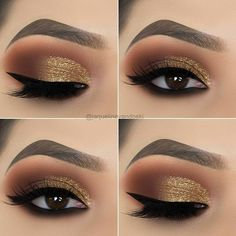 Preferred goldd deep eye make-up This i. - Preferred goldd deep eye make-up This image has get 1 repi - Cute Makeup, Perfect Makeup, Pretty Makeup, Makeup Looks, Easy Makeup, Creative Makeup, Awesome Makeup, Shimmer Eye Makeup, Smokey Eye Makeup