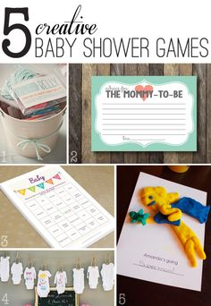 5 creative, non-lame baby shower games to play at the next baby shower you're hosting.