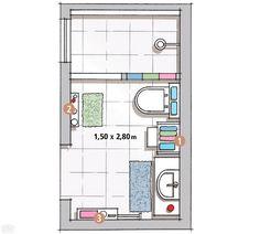 planos de cuartos de baño pequeños - Buscar con Google Más