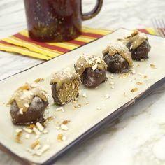 SunButter Pretzel Truffles (use safe pretzels and chocolate)