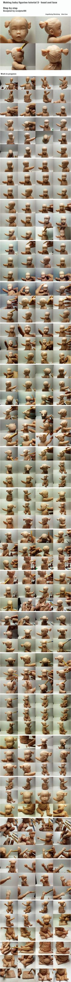 Making baby figurine tutorial 3 by sculptor101.deviantart.com on @DeviantArt
