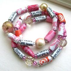 Paper bead jewelry I never thought of making beads out of scrapbook paper, but…