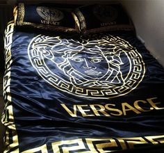 Versace silky bedspread. Whaaaat.