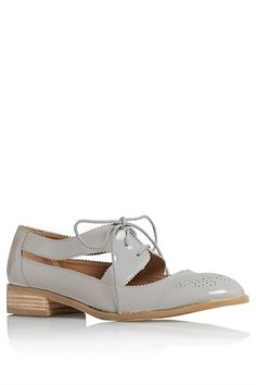 Next Shoes for Women - Next Grey Patent Geek Shoes