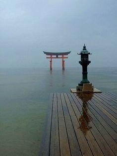 Mijajima eiland - Itsukushima shrine (shinto). Shrine, in huidige vorm, dateert uit het midden van de 16de eeuw.