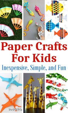 Sometimes you just need a quick craft to keep the kids entertained. These fun paper crafts are very inexpensive and simple to prepare....