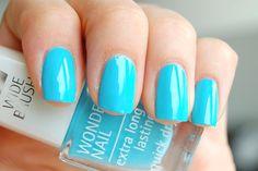 'IsaDora - 738 Blue Lagoon #nailpolish' #bluenailpolish #bluenails