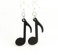 Music Note Earrings # 1446 - Green Tree Jewelry