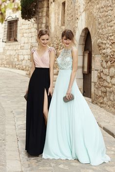 Pronovias 2018 Cocktail Collection dresses in mint and pink Color Champagne Vestidos, Vestidos Color Menta, Bridesmaid Dresses, Prom Dresses, Formal Dresses, Bridesmaids, Fiesta Outfit, Flowing Dresses, Party
