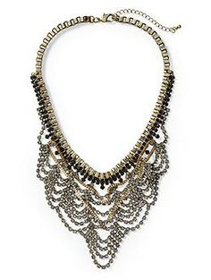 Sabine Rhinestone Mesh Necklace | Piperlime - gorgeous..dress it up or down...looking forward to wearing it