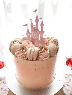 Princess Castle Donut Wall - Foote and Flame, Castle Cake Topper - Foote and Flame, Birthday Cake - Posh Little Cakes Disney Princess Birthday Cakes, Little Girl Birthday Cakes, Castle Birthday Cakes, Princess Theme Birthday, Baby Girl Cakes, Baby Birthday Cakes, Birthday Cake Toppers, 21st Cake Topper, Princess Party